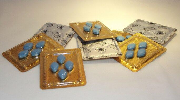 Comprimidos de Viagra, usados no tratamento da disfunção erétil